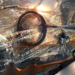 Grand Prix Circuit concept art.