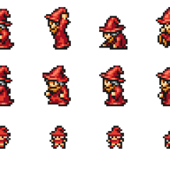 Set of Matoya's sprites.
