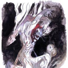 Alternate Amano artwork of the Wendigo.