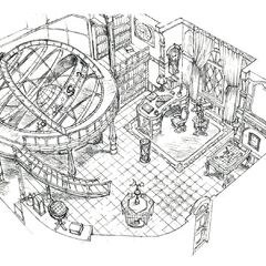 Concept art of Doctor Tot's study.