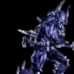 Dark Knight Cecil manikin.