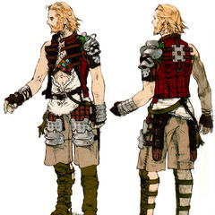 Later concept art. Basch's facial hair still differs from his in-game appearance.