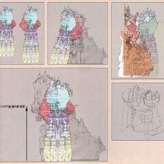 Concept artwork of Alexander from <i>Final Fantasy IX</i>.