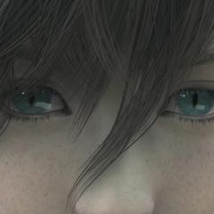 Denzel with Jenova's eyes.