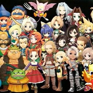 The cast of <i>Itadaki Street Portable</i>.