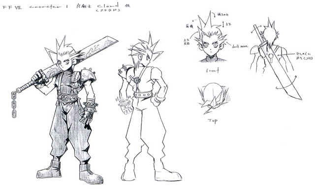 File:Cloud Strife Sketch2.png