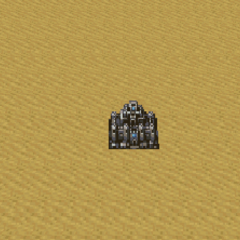Figaro Castle as it appears on the world map.