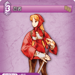 Trading Card of a female Ninja.