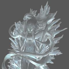 Unused model of Serah in crystal stasis.