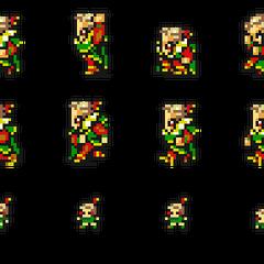 Set of Kefka's sprites.