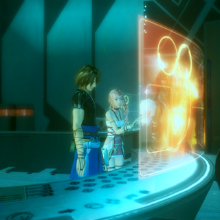 Serah and Noel checking on the Datanet.