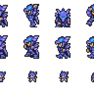 Set of Dragoon's sprites.