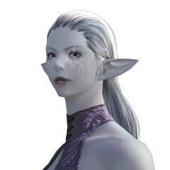 A female Duskwight (Shader) bust.