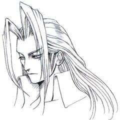 Concept art of Sephiroth's menu portrait by Tetsuya Nomura.