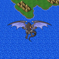 Bahamut appears on the Merged World.