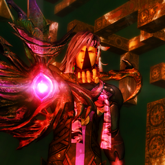 The glowing eye of Chaos's Revenge in <i>Final Fantasy XIII-2</i>.
