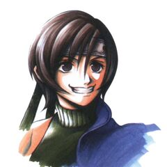 Portrait by Tetsuya Nomura.