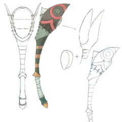 Concept artwork for the Magic Racket.
