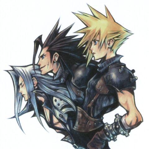<i>FFVII</i> 10th Anniversary artwork (colored).