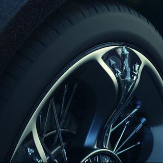 The Regalia's hubcaps have a chocobo talon motif.