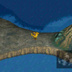 The Mime cave is accessible by a green chocobo.