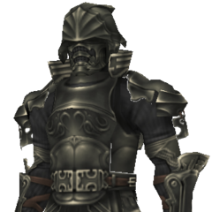 Vossler's fully armored disguise in-game model.