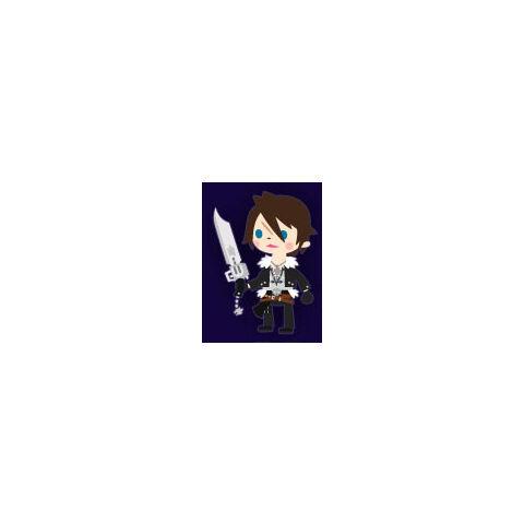 <i>FFVIII</i> Squall.