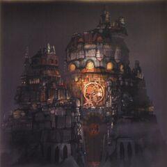 Lindblum Castle at Night.