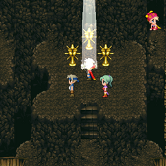 The Warring Triad statues (iOS/Android/PC).