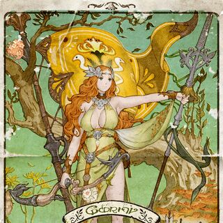 Goddess Nophica in the Adder's poster.