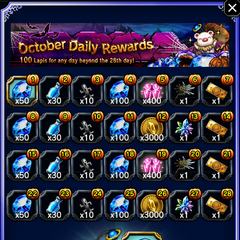 October 2016 Daily Rewards for global release.
