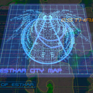 Esthar City in-game map.