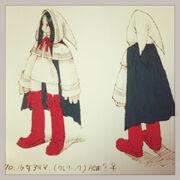 FFT Alma as a White Mage Concept Art