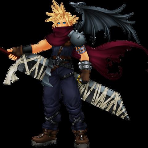 Cloud's <i>Kingdom Hearts</i> appearance, based on Vincent.