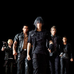 Ignis with the rest of the party.