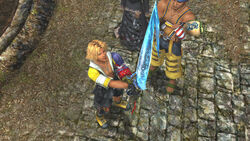 Tidus receiving Brotherhood.jpg