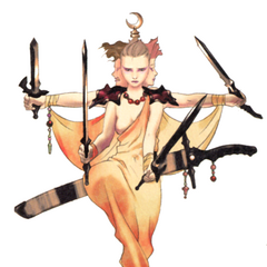 Akira Oguro artwork of Asura for <i>Final Fantasy IV</i> (DS).