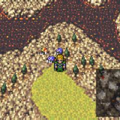 Kohlingen on the World of Ruin map (GBA).