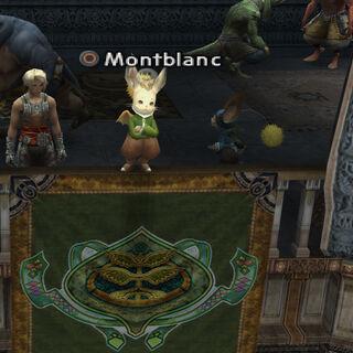 Montblanc in Clan Centurio clan hall in <i>Final Fantasy XII</i>.