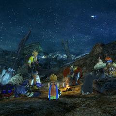 Zanarkand camp site in <i>Final Fantasy X</i>.