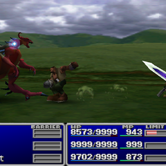 Barret attacking without a gun in <i><a href=