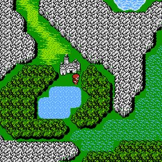 Castle Deist on the World Map (NES).