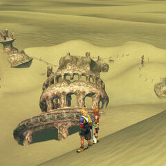 Ruins in Sanubia Sands in <i>Final Fantasy X</i>.