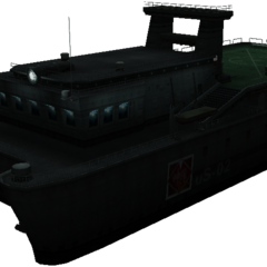 Render of the Cargo Ship in <i>Crisis Core -Final Fantasy VII-</i>.