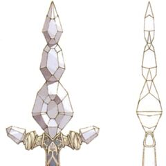 Concept art of Diamond Sword from <i><a href=
