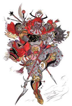 Arte de Gilgamesh feita por Yoshitaka Amano