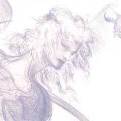 Lithograph artwork by Yoshitaka Amano.