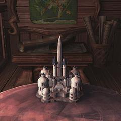 Miniature model of the castle.