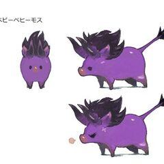 Baby Behemoth minion concept art.