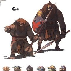 Early concept art of the Galka.